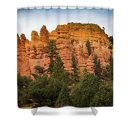 Red Rocks Of Utah Shower Curtain by Kathleen Scanlan