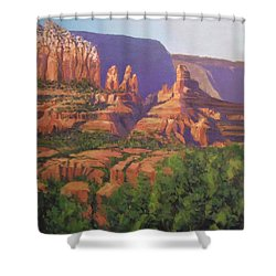 Red Rocks Sedona Shower Curtain