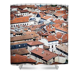 Shower Curtain featuring the photograph Red Roof by Jason Smith