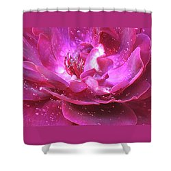 Red Rose Rain Dance - 2nd In A Series Of 6 Shower Curtain by Brooks Garten Hauschild