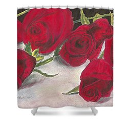 Red Rose Redux Shower Curtain