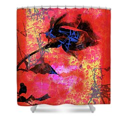 Red Rose Shower Curtain by Robert Ball