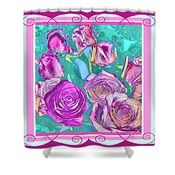 Red Roses 2 Shower Curtain
