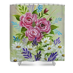 Shower Curtain featuring the painting Red Roses Alla Prima by Jimmie Bartlett