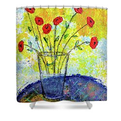 Red Roses For You Shower Curtain