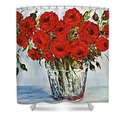 Red Roses Memories Shower Curtain