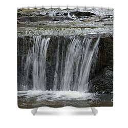 Red Run Waterfall Shower Curtain