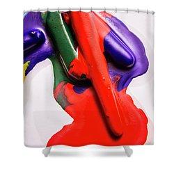 Red Runs Shower Curtain