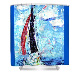 Red Sail Shower Curtain