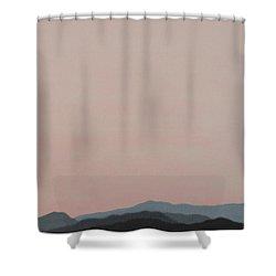 Red San Jacintos Shower Curtain