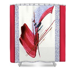 Red Sax Shower Curtain