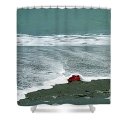 Red Shoe Surf Shower Curtain