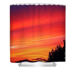 Shower Curtain featuring the photograph Red Skies At Night  by Nick Gustafson