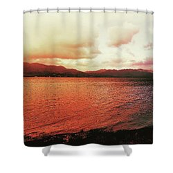 Shower Curtain featuring the photograph Red Sky After Storms  by Chriss Pagani