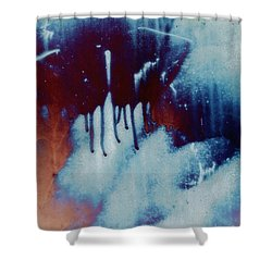 Red Sky At Night Abstract Shower Curtain by Lee Craig
