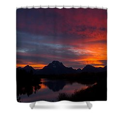Red Sky At Oxbow Shower Curtain