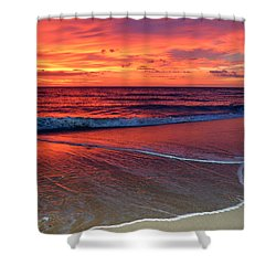 Red Sky In Morning Shower Curtain by Dianne Cowen