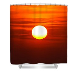 Red Sky Morning Shower Curtain