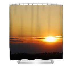 Red Sky Sunset Shower Curtain