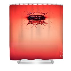 Red Splashdown 2 Shower Curtain
