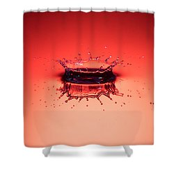 Red Splashdown Shower Curtain
