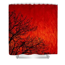 Red Storm Shower Curtain by Charuhas Images