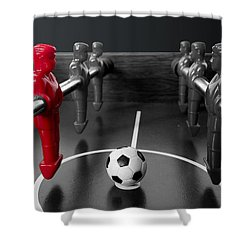 Red Striker Shower Curtain