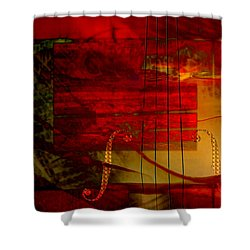 Red Strings Shower Curtain