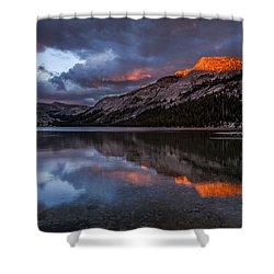 Red Sunset At Tenaya Shower Curtain