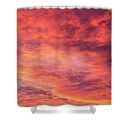 Red Sunset Sky Shower Curtain