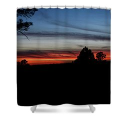 Red Sunset Strip Shower Curtain