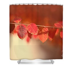 Red Tallo Leaves Shower Curtain