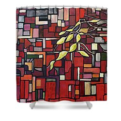Shower Curtain featuring the painting Red Tango by Joanne Smoley