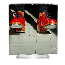 Red Tap Shoes Shower Curtain