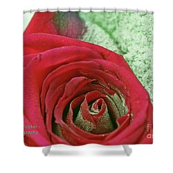 Shower Curtain featuring the digital art Red by Terry Foster