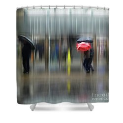Shower Curtain featuring the photograph Red Umbrella by LemonArt Photography