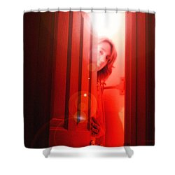 Red Unfocused Shower Curtain