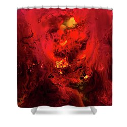 Red Universe Shower Curtain