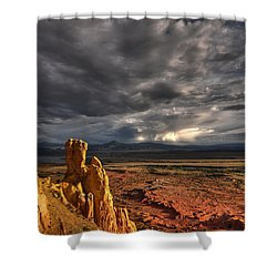 Shower Curtain featuring the photograph Red Valley by Brian Spencer