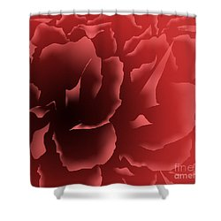 Red Velvet Peony Shower Curtain