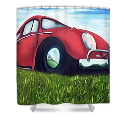 Red Vw Shower Curtain