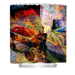 Red Wagon Shower Curtain