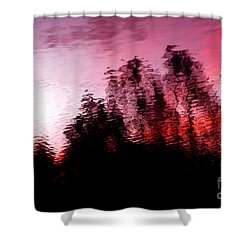 Red Waters Shower Curtain