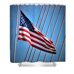 Red, White And Blue Shower Curtain