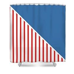 Red White And Blue Triangles Shower Curtain