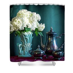 Red, White, Blue Shower Curtain by Wendy Blomseth