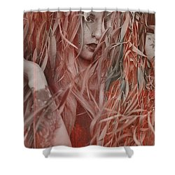 Red Willow  Shower Curtain by Pamela Patch