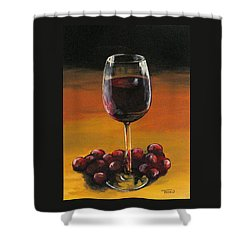 Red Wine And Red Grapes Shower Curtain