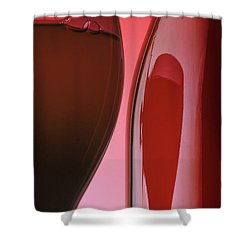 Red Wine Shower Curtain by Garry McMichael