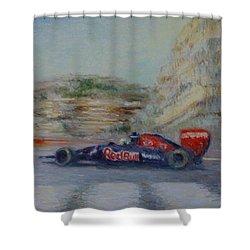 Redbull Racing Car Monaco  Shower Curtain